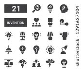 invention icon set. collection... | Shutterstock .eps vector #1291637104