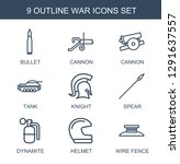 war icons. trendy 9 war icons.... | Shutterstock .eps vector #1291637557