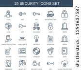 security icons. trendy 25... | Shutterstock .eps vector #1291637587