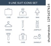 suit icons. trendy 9 suit icons.... | Shutterstock .eps vector #1291637614