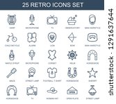 retro icons. trendy 25 retro... | Shutterstock .eps vector #1291637644