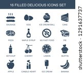 delicious icons. trendy 16... | Shutterstock .eps vector #1291637737