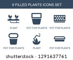 plants icons. trendy 6 plants... | Shutterstock .eps vector #1291637761