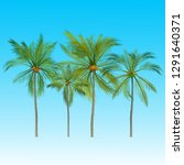 vector of palm tree icons on... | Shutterstock .eps vector #1291640371