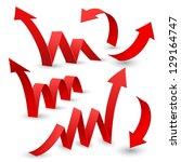 set of arrow stickers  vector... | Shutterstock .eps vector #129164747