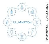 8 illumination icons. trendy... | Shutterstock .eps vector #1291652827
