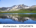 View of mountain and lake, landscsape. Bayburt, Turkey.