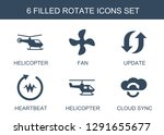 6 rotate icons. trendy rotate... | Shutterstock .eps vector #1291655677