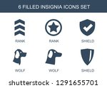 6 insignia icons. trendy... | Shutterstock .eps vector #1291655701