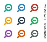 zoom out icon white background. ... | Shutterstock .eps vector #1291655767