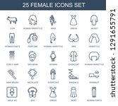 25 female icons. trendy female... | Shutterstock .eps vector #1291655791