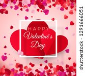 valentines day postcard. two... | Shutterstock . vector #1291666051
