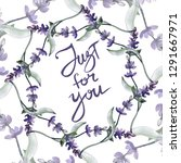purple lavender. floral... | Shutterstock . vector #1291667971