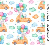 watercolor seamless pattern... | Shutterstock . vector #1291677601