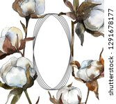 cotton floral botanical flower. ... | Shutterstock . vector #1291678177