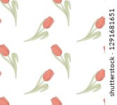 seamless floral pattern with... | Shutterstock .eps vector #1291681651