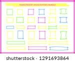transparent highlight pen... | Shutterstock .eps vector #1291693864
