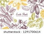 exotic plants vector design.... | Shutterstock .eps vector #1291700614