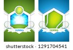 set of golf posters.vector... | Shutterstock .eps vector #1291704541