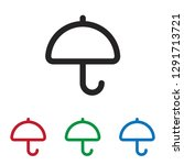 umbrella vector icon | Shutterstock .eps vector #1291713721