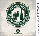 alternative eco waste stamp... | Shutterstock .eps vector #1291718314