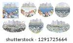 environmental disaster of... | Shutterstock .eps vector #1291725664