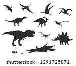 dinosaurs and jurassic dino...   Shutterstock .eps vector #1291725871