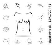 sagging breasts icon. detailed... | Shutterstock .eps vector #1291727491