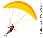 Man On Paraglider Isolated On...