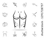 surgical marks on the body icon.... | Shutterstock .eps vector #1291728757