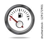 fuel indicator shows low fuel... | Shutterstock .eps vector #129172901