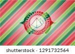 pyramids icon inside christmas... | Shutterstock .eps vector #1291732564