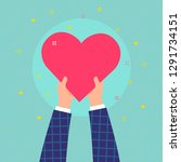 concept of charity and donation.... | Shutterstock .eps vector #1291734151