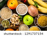 selection of good carbohydrates ... | Shutterstock . vector #1291737154