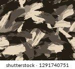 seamless desert brush camouflage   Shutterstock .eps vector #1291740751