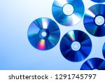 pile of old dirty used cd cds... | Shutterstock . vector #1291745797