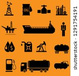 oil icon set  | Shutterstock . vector #1291754191