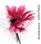 beautiful flower, watercolor