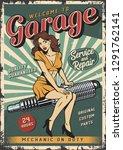 vintage garage repair service...   Shutterstock .eps vector #1291762141