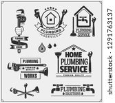 plumbing and home renovation... | Shutterstock .eps vector #1291763137