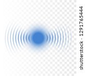 sonar wave sign. vector... | Shutterstock .eps vector #1291765444