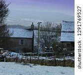Winter Landscape  Old Farmhouse ...