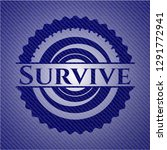 survive emblem with jean texture | Shutterstock .eps vector #1291772941