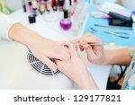 manicure in process | Shutterstock . vector #129177821
