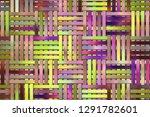 artistic woven mat rattan... | Shutterstock . vector #1291782601