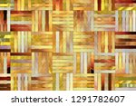 artistic woven mat rattan... | Shutterstock . vector #1291782607