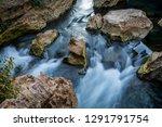 long exposure of water flowing... | Shutterstock . vector #1291791754