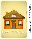 Cartoon Houses Postcard....