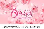 8 march vector illustration... | Shutterstock .eps vector #1291805101