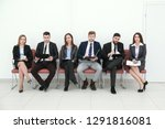 business team with clipboards... | Shutterstock . vector #1291816081